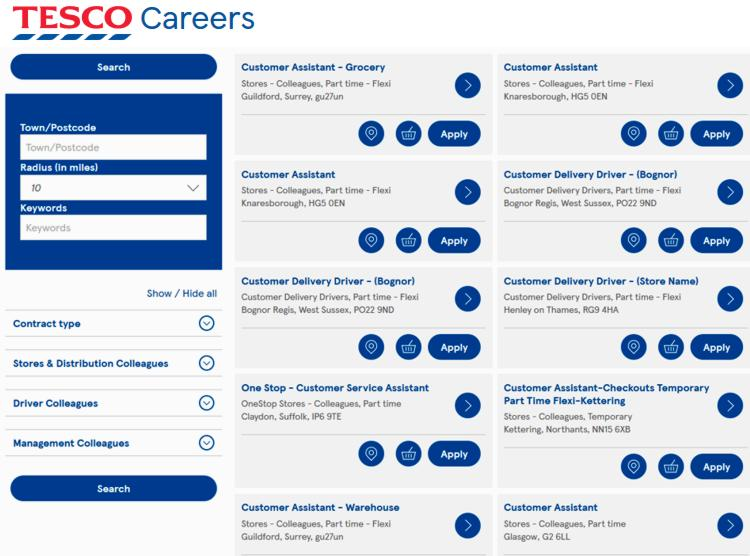 19 Tesco Careers
