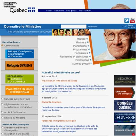 16 Site Ministere Immigration Quebec