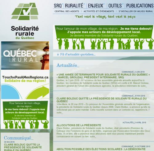 16 Site Solidarite Rurale Quebec