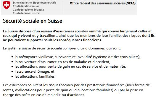 16 Office Federal des Assurances Sociales