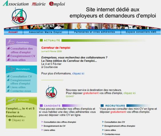 16 Association Mairie Emploi AME