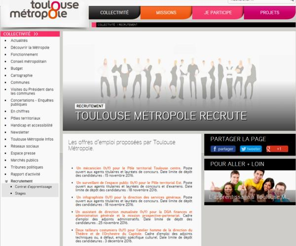 16 Metropole Toulouse Recrutement