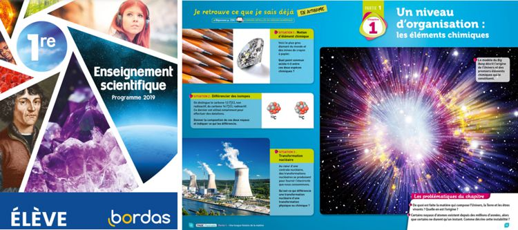 20 Biblio Manuels Bordas 1ere Enseignement Scientifique module Eleve 1