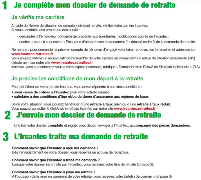 17 Ircantec Conditions Explication Dossier