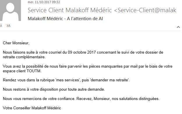 17 Malakoff Mederic Email Reclamation 2