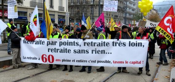 19 Manifestation Retraite par Points Dec